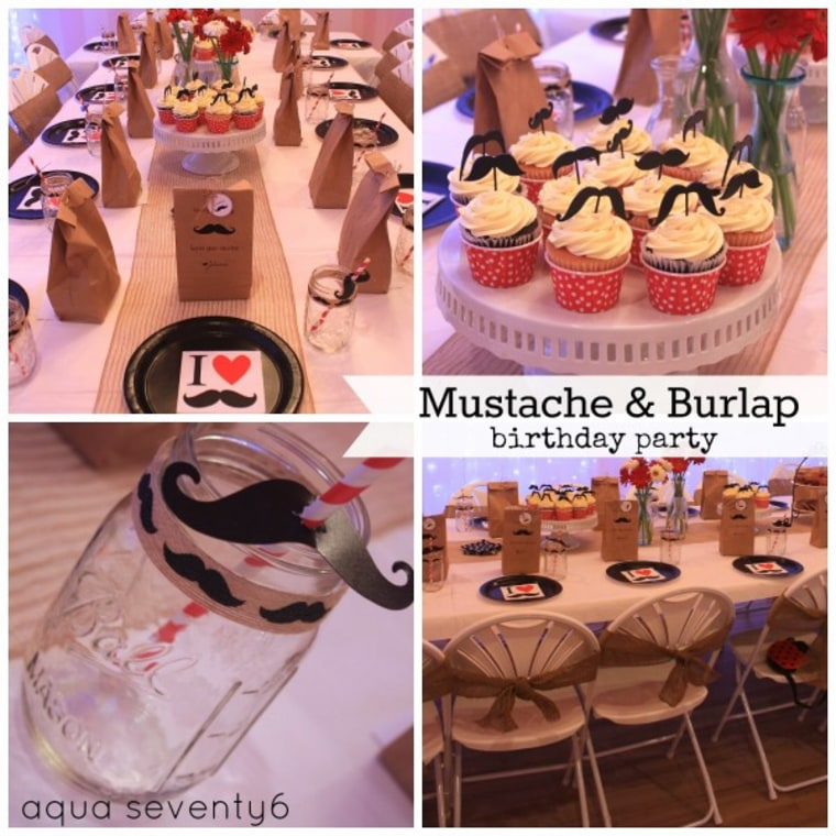 IMAGE: Mustache and burlap party