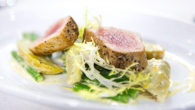 Ryan DePersio cooks up a tuna nicoise salad with a mustard vinaigrette