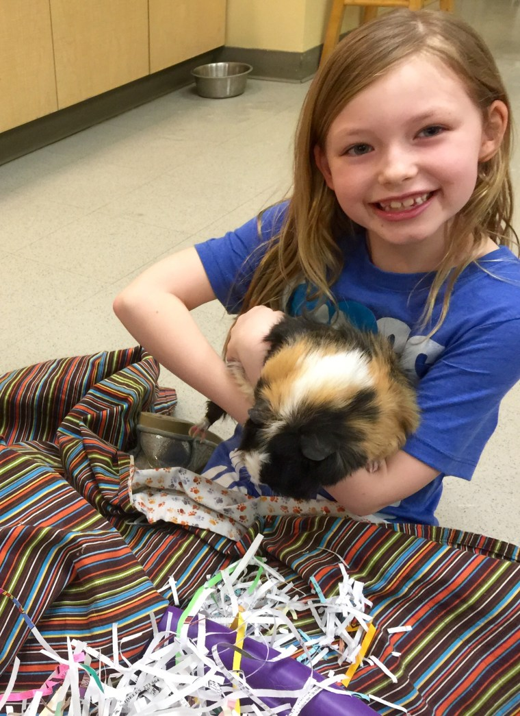 Alex Hinsley even celebrated her birthday at the Humane Society of Missouri in early February. Instead of gifts, her guests brought items for the animals, such as blankets and treats.