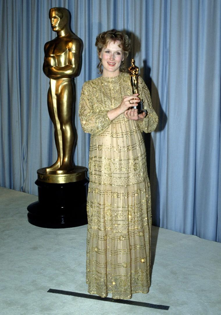 Meryl Streep receives Academy Award