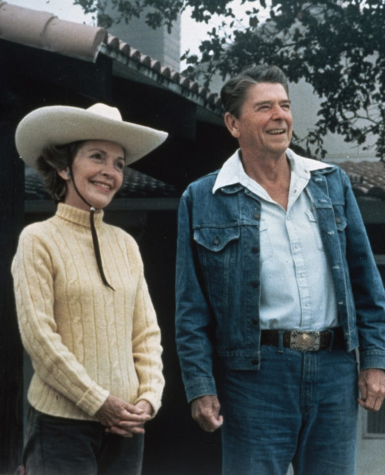 Editorial Use Only,  President and Mrs. Ronald Reagan, Rancho del Cielo, California, USA, August 13, 1981  Photri Images/Superstock/Everett Collection