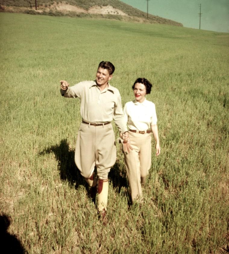 Ronald Reagan, Nancy Reagan in the 1950s