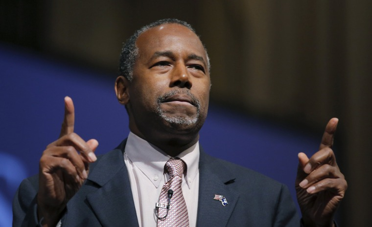 Image: Carson speaks during a Presidential Town Hall Series at Bob Jones University in Greenville
