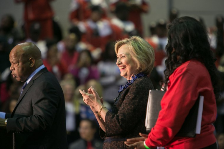 """Hillary Clinton Hosts \""""African Americans For Hillary\"""" Rally In Atlanta"""