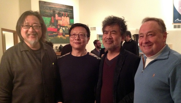 """""""The Dream of the Red Chamber"""" opera creative team members at a University of Michigan workshop performance. From left: director Stan Lai, composer and librettist Bright Sheng, librettist David Henry Hwang, and conductor George Manahan."""