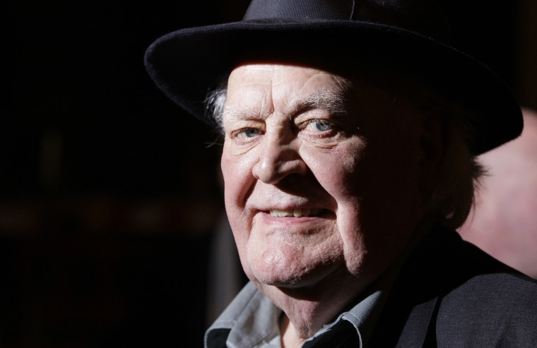 Actor Joss Ackland attends the UK premiere of Flawless- a diamond heist movie- at a central London cinema, Wednesday, Nov.26, 2008.