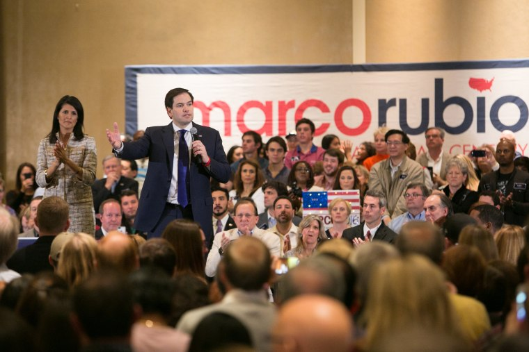 Image: Marco Rubio Holds Campaign Rally In Atlanta Ahead Of Super Tuesday