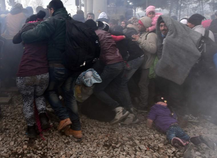 Image: TOPSHOT-GREECE-MACEDONIA-EUROPE-MIGRANTS