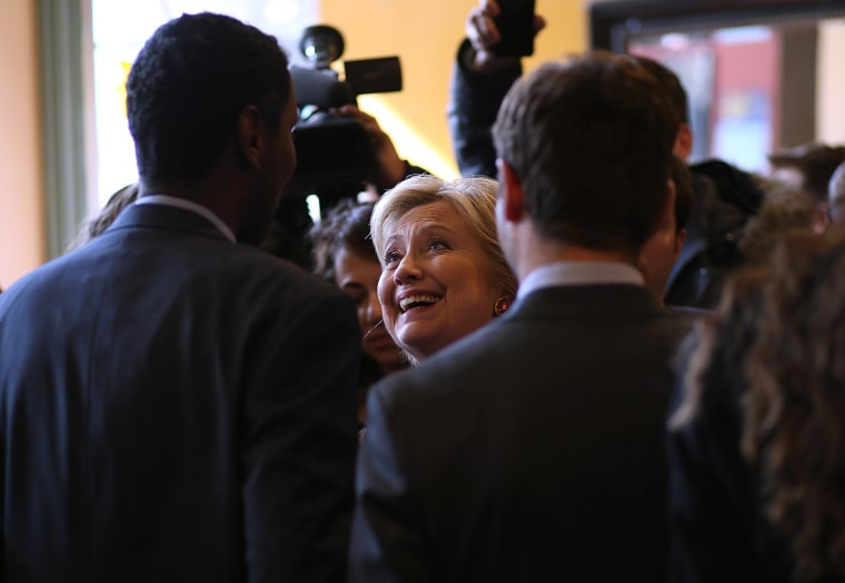 Image: Hillary Clinton Campaigns Across U.S. Ahead Of Super Tuesday Primaries