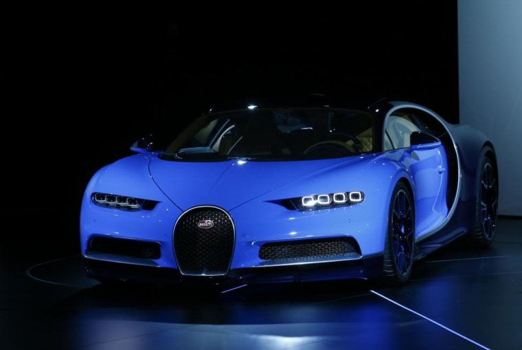 The new Bugatti Chiron car is presented ahead of the 86th International Motor Show in Geneva