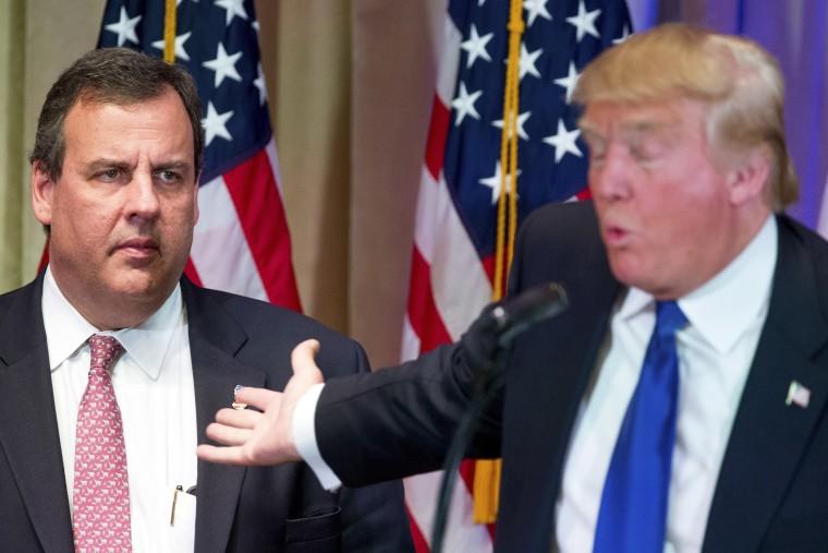 Image: Donald Trump, Chris Christie