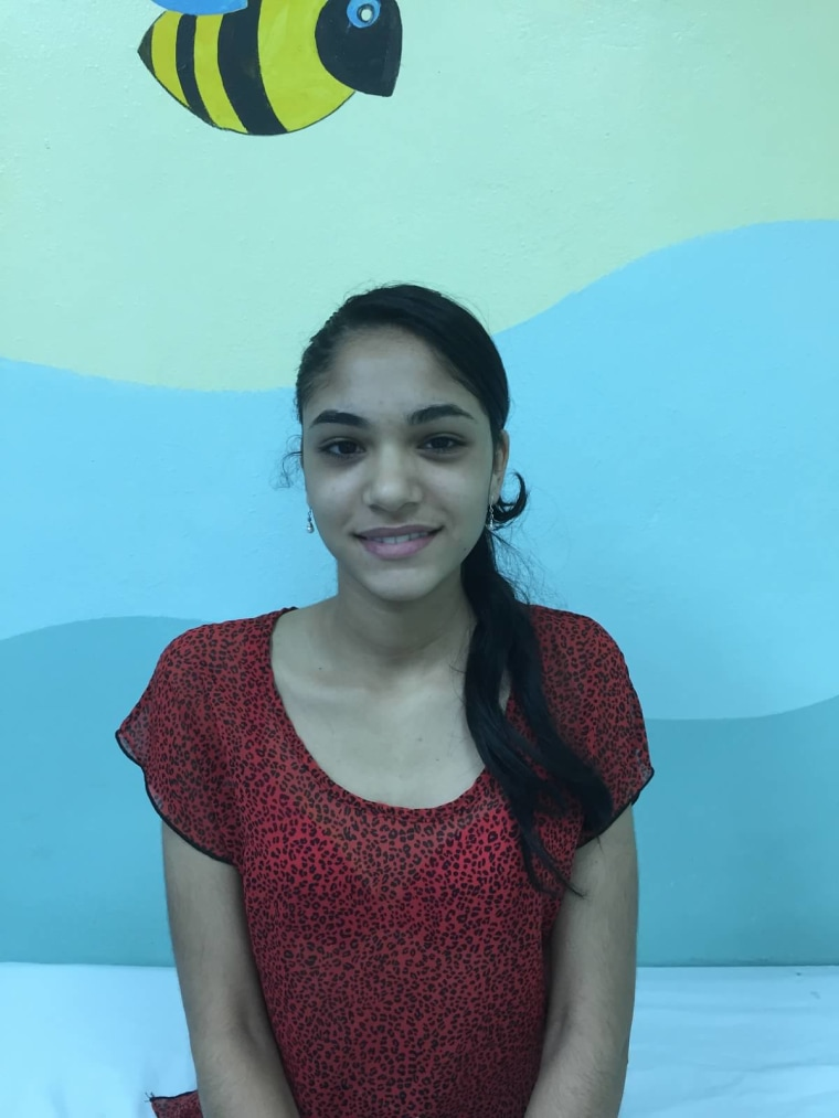 Audrey Cabrera, a patient who had surgery to treat her scoliosis.