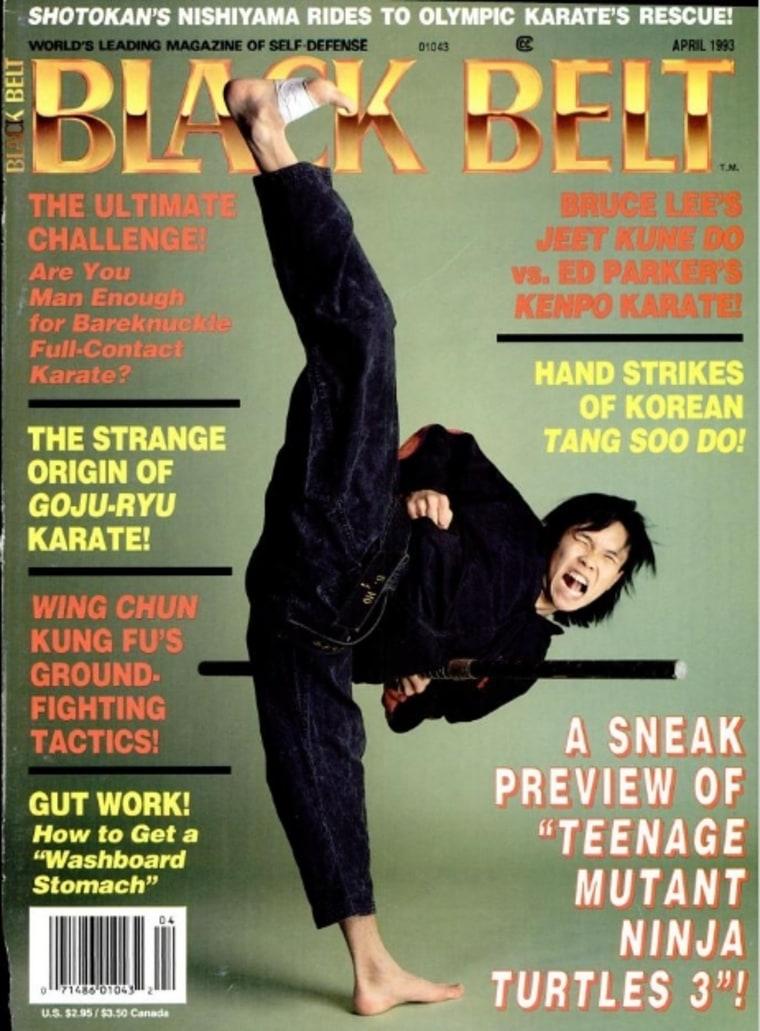Steven Ho on the cover of Black Belt Magazine