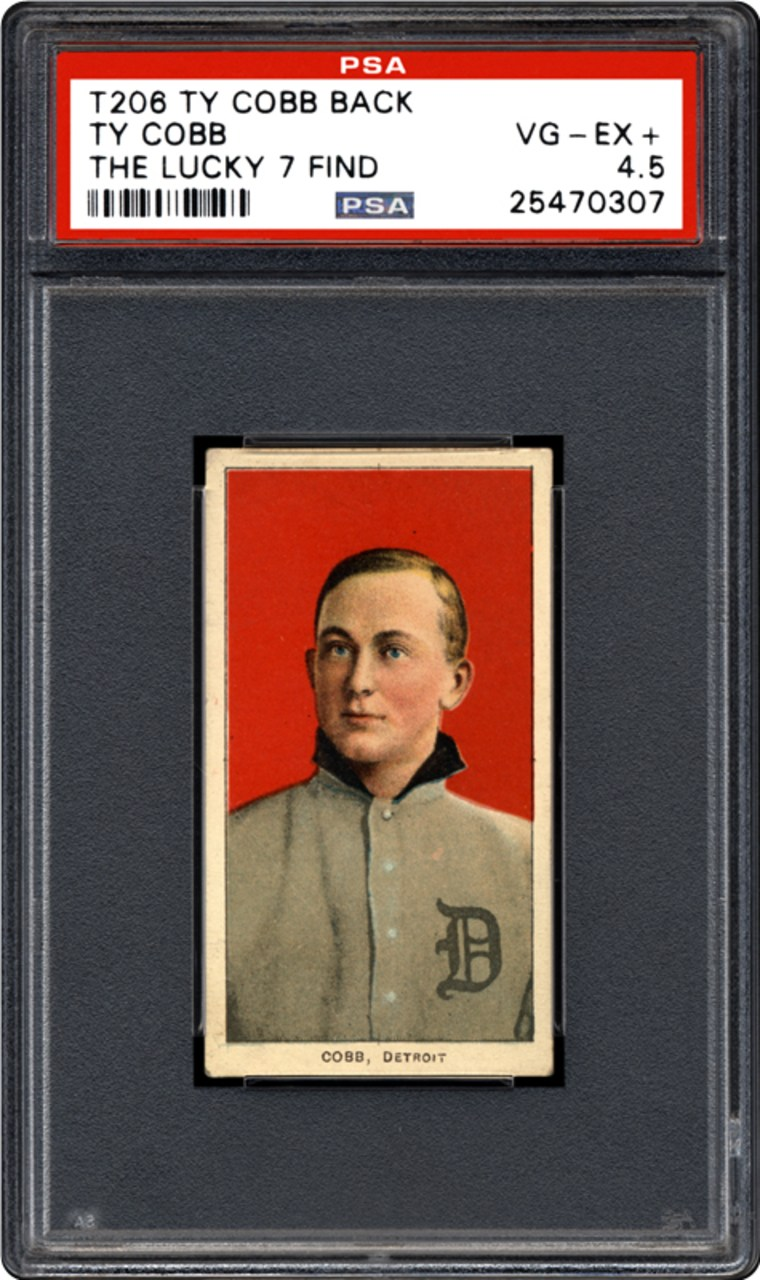 The front of a recently discovered T206 Ty Cobb baseball card.