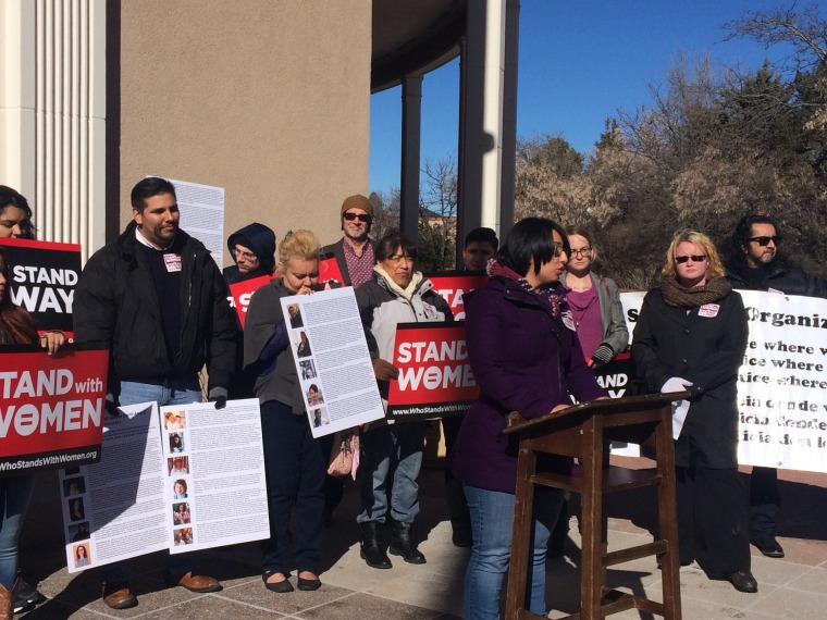 OLÉ Staff and Members at the Stand With Women Legislative Kickoff in January, 2016, in the State Capitol in Santa Fe, NM.