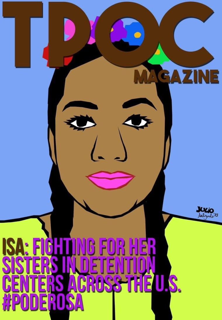 Magazine art cover created by artist Julio Salgado celebrating trans activists.
