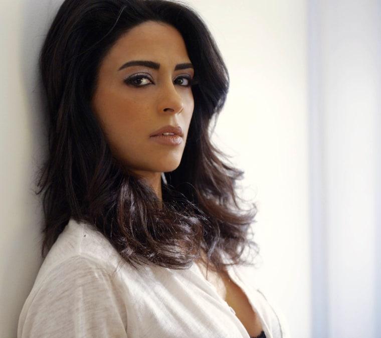 "Yasmine Al Massri, who portrays twins Nimah and Raina Amin on ABC's ""Quantico."""