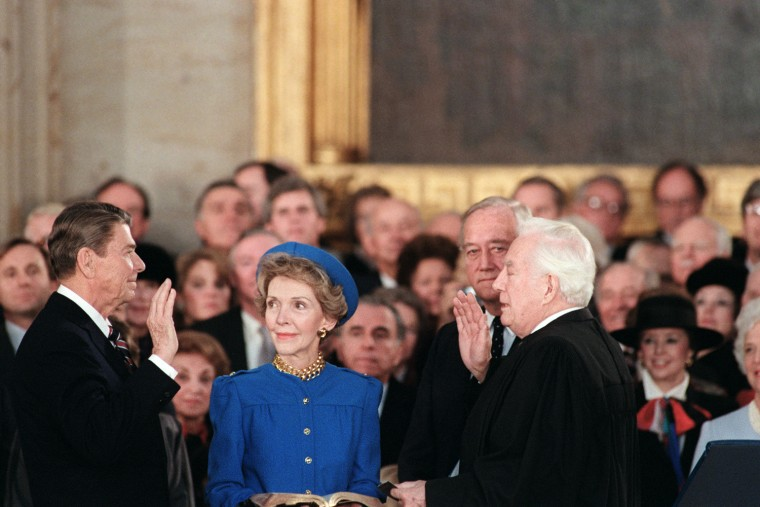 Image: President Ronald Reagan is sworn in for his second term