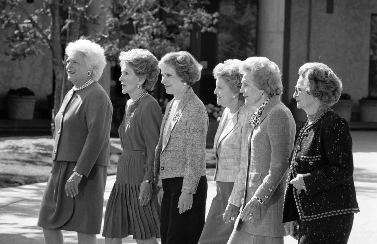 Image: Former First Ladies at the Ronald Reagan Presidential Library dedication