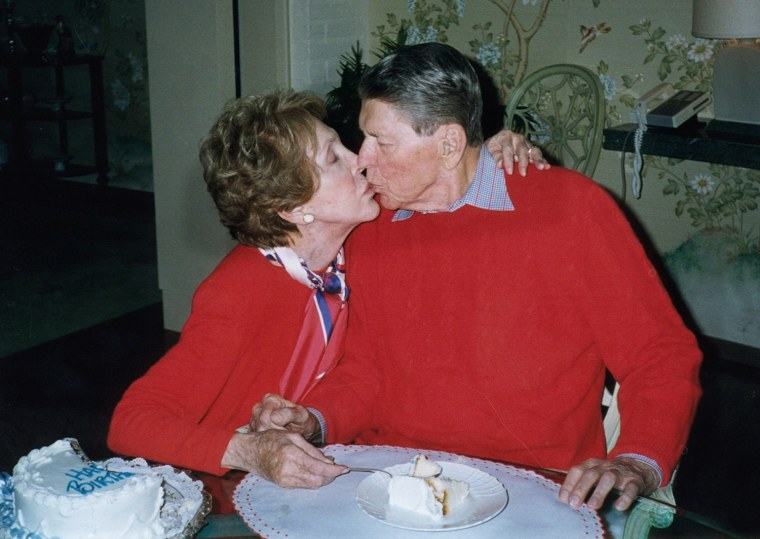 Image: Nancy and her husband celebrate Ronald's 89th birthday at their home