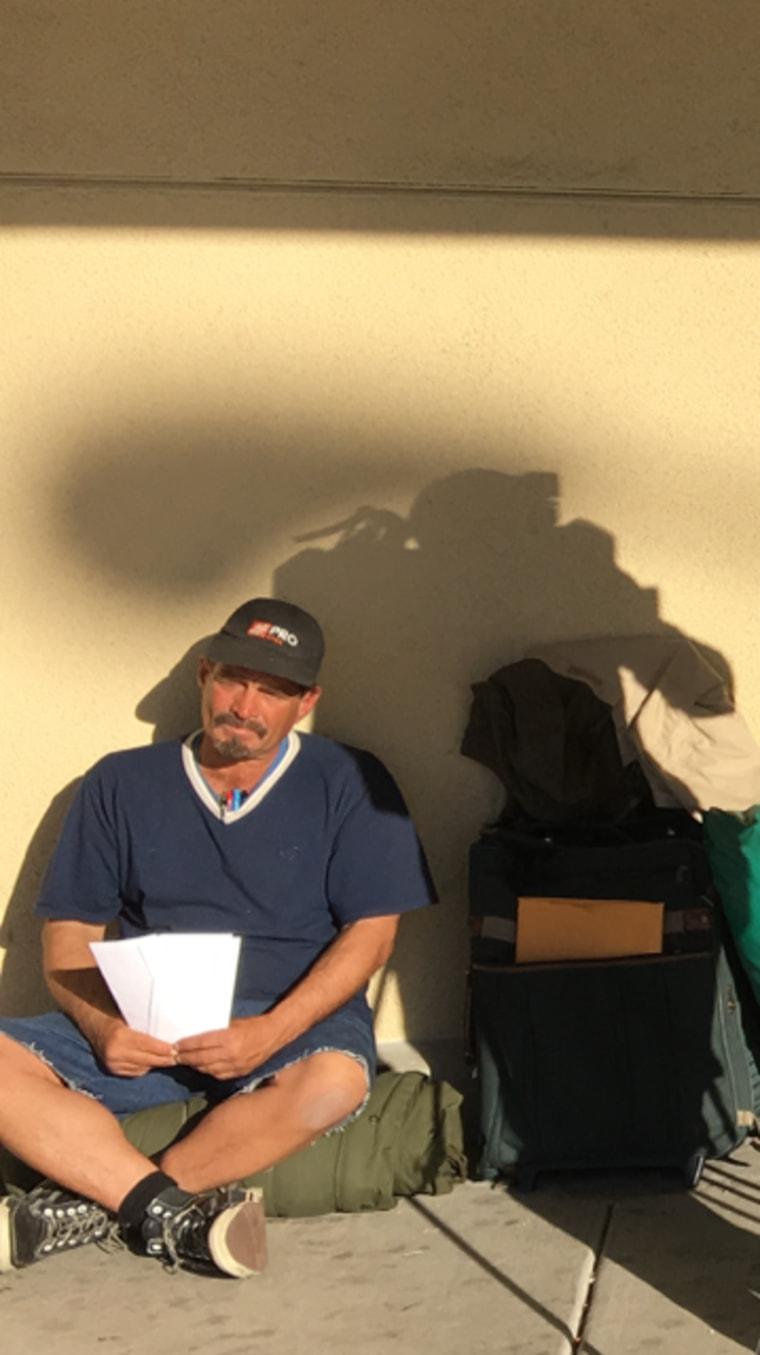 homeless job seeker