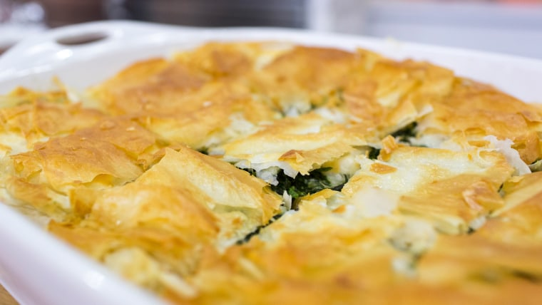 Maria Menounos' recipe for Greek spinach pie, or Spanakopita