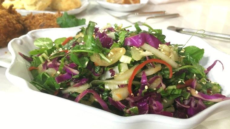 Chef Tiffani Faison makes an easy Asian-style coleslaw
