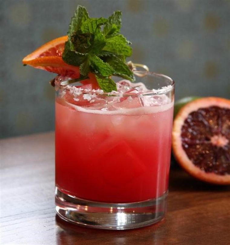 Blood orange margarita for National Margarita Day