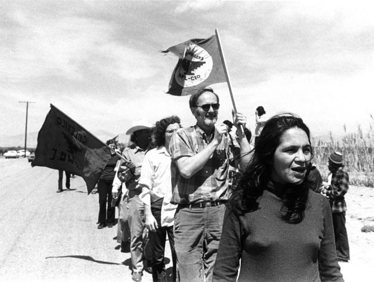 Dolores Huerta at California demonstrations