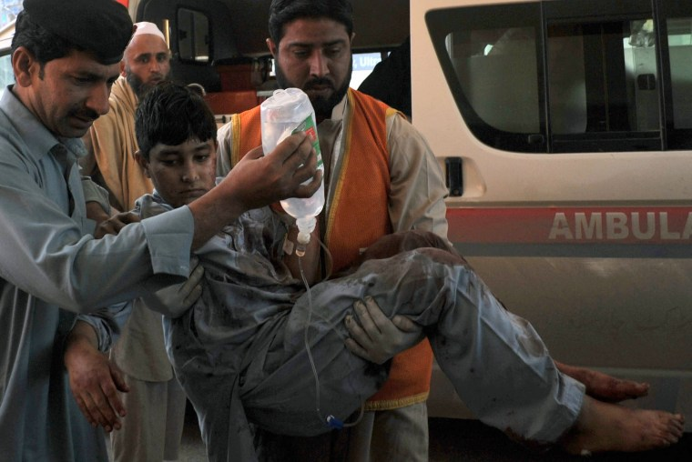 Image: Victim of bombing in Pakistan