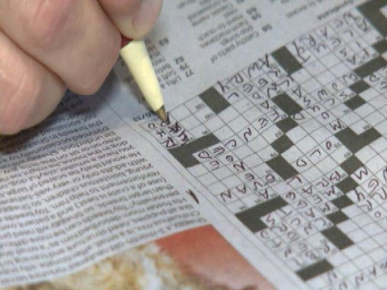 IMAGE: Crossword puzzle