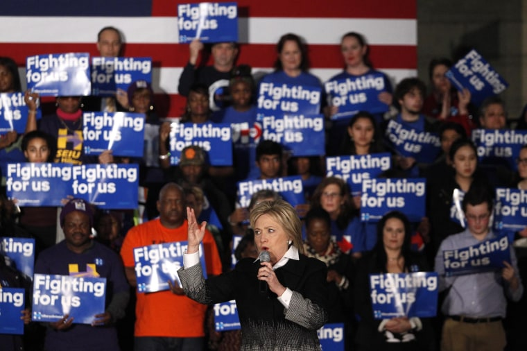 Image: Hillary Clinton Holds Get Out The Vote Rally in Detroit
