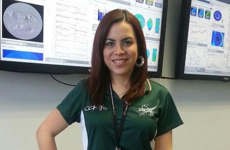 Dr. Yari Collado-Vega, Solar Weather Forecaster at NASA's Goddard Space Flight Center.