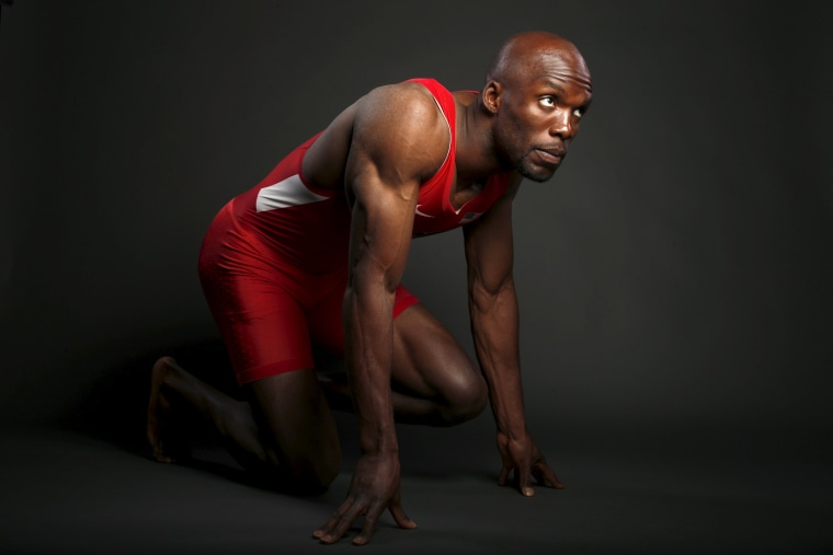 Image: Runner LaShawn Merritt poses for a portrait at the U.S. Olympic Committee Media Summit in Beverly Hills, Los Angeles