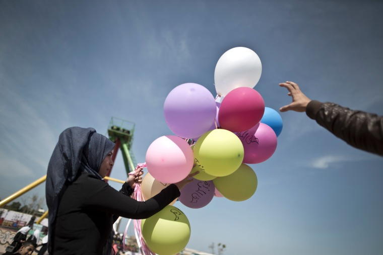 Image: PALESTINIAN-ISRAEL-CONFLICT-WOMEN-DAY