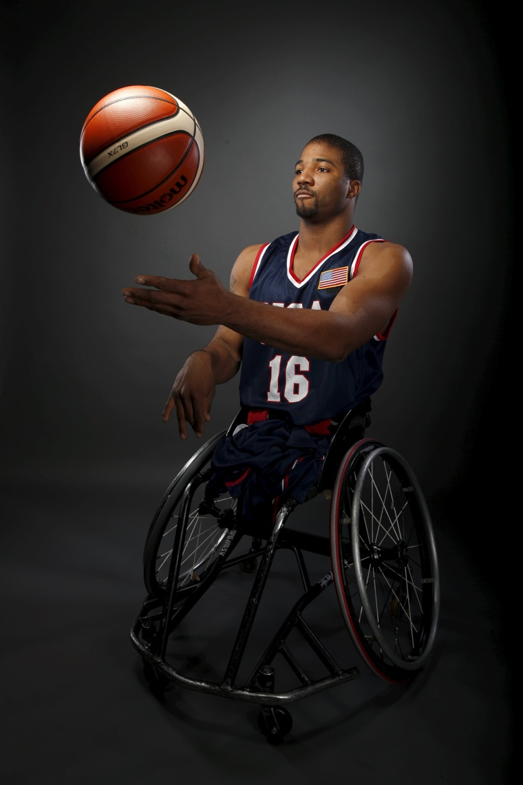 Image: Wheelchair basketball player Trevon Jenifer poses for a portrait at the U.S. Olympic Committee Media Summit in Beverly Hills