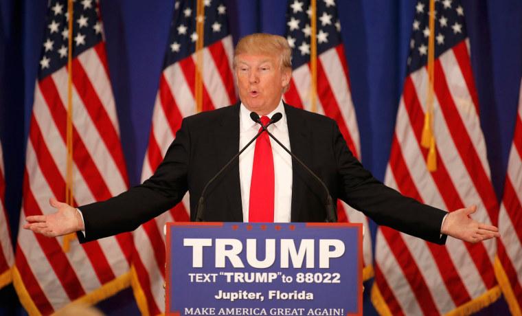 Image: Republican U.S. presidential candidate Donald Trump speaks