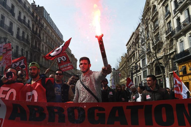 Image: FRANCE-ECONOMY-LABOUR-REFORM-STRIKE-DEMO