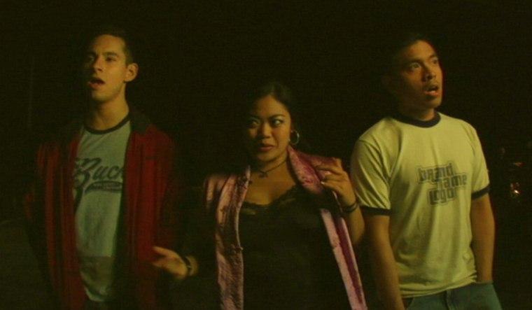 """Jake Moreno, L.A. Renigen, and H.P. Mendoza in """"Colma: The Musical."""""""
