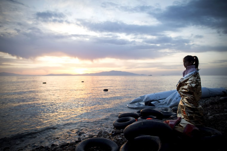 Image: ***BESTPIX*** Greek Island Of Lesbos On The Frontline Of the Migrant Crisis