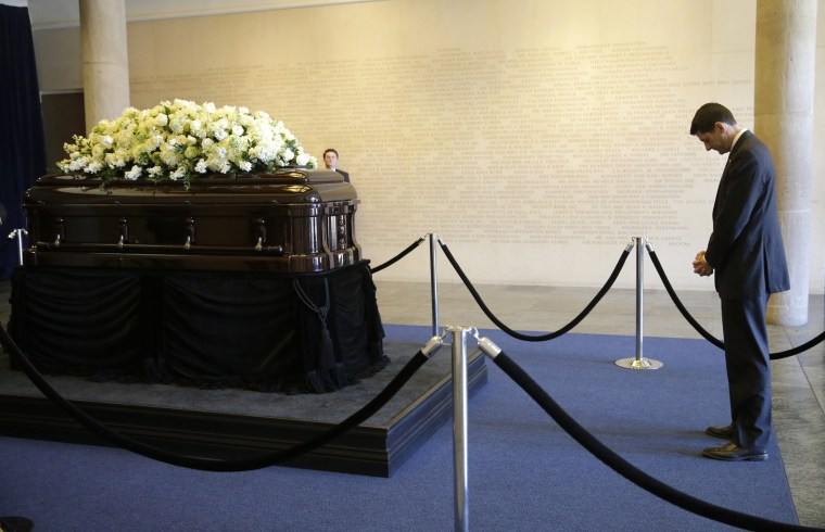 Image: Former First Lady Nancy Reagan Lies In Repose At Ronald Reagan Presidential Library