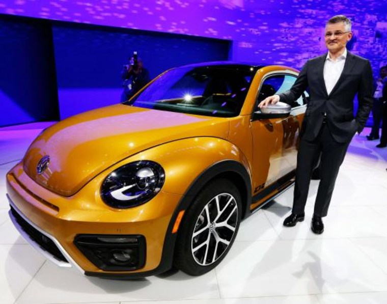 File photo of Michael Horn, President and CEO of Volkswagen America, introducing the new Beetle Dune at the LA Auto Show in Los Angeles