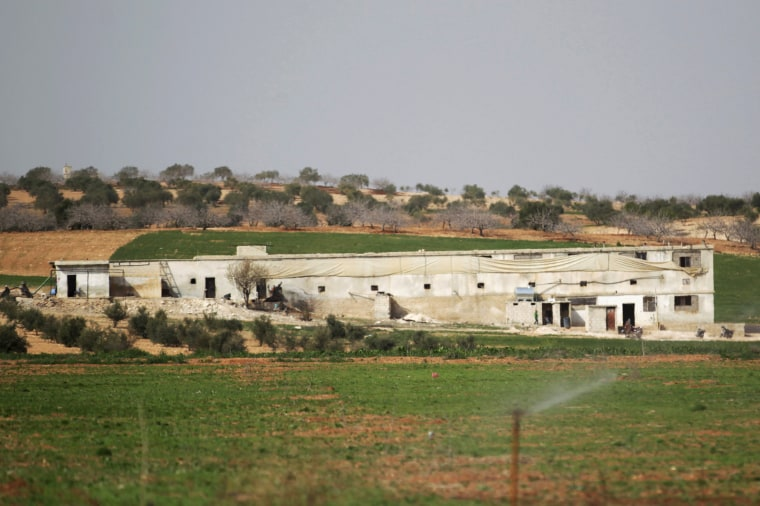 Image: A general view shows the Freedom School, in the town of al-Tamanah, in the southern countryside of Idlib