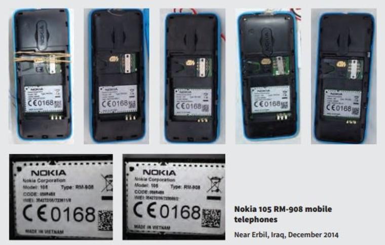 Image: Nokia 105 cellphones