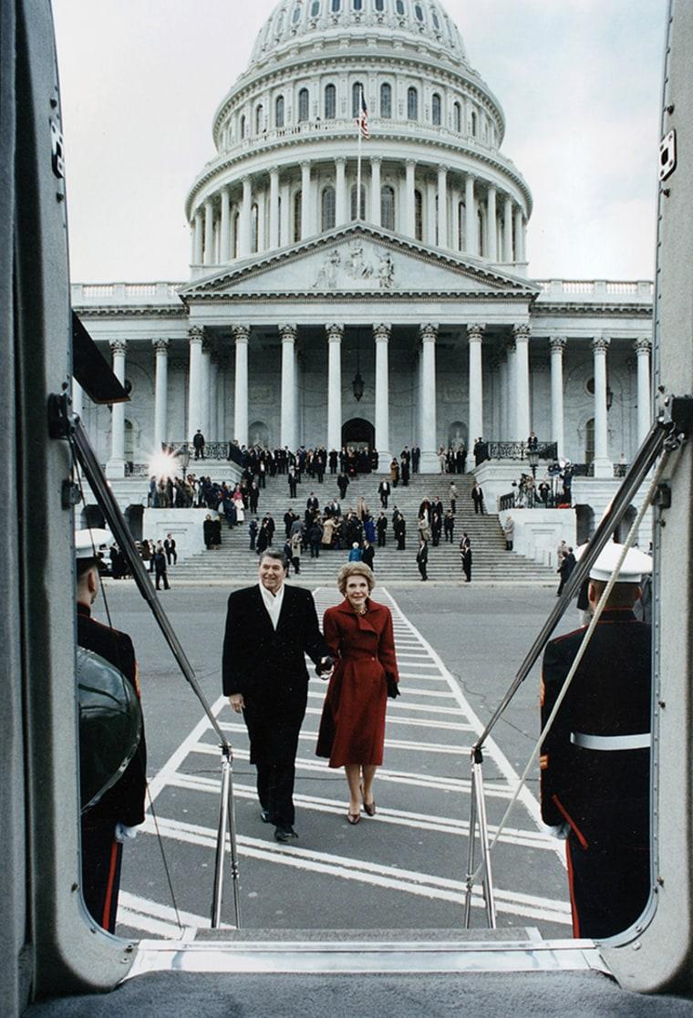 Ronald and Nancy Reagan in Washington D.C.