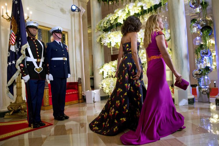 Image: Michelle Obama, Sophie Gregoire Trudeau