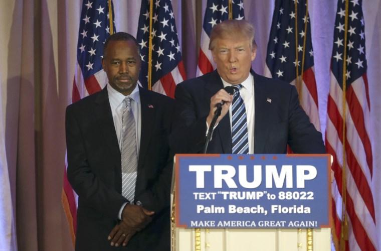 Image: Donald Trump, Ben Carson