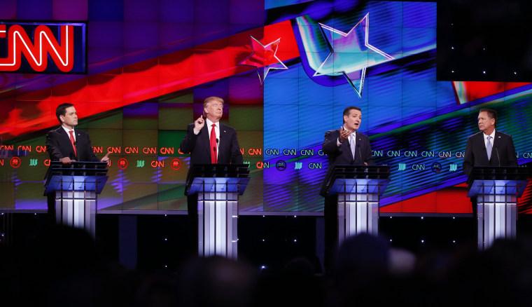 Image: Ted Cruz, Marco Rubio, Donald Trump, John Kasich