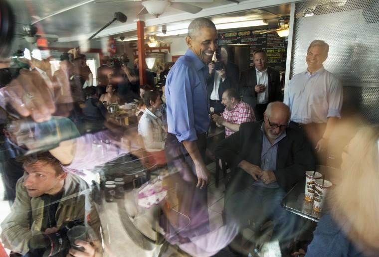Image: Barack Obama, Steve Adler