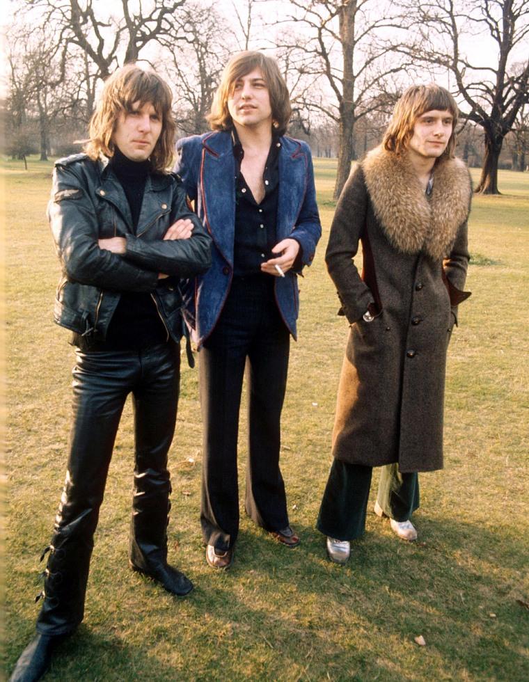 "Keith Emerson, Greg Lake and Carl Palmer of ""Emerson, Lake and Palmer"" in 1973."